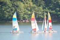 Catamarans sur le lac de Viam