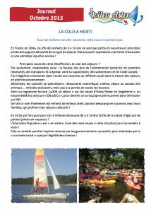Journal octobre 2015