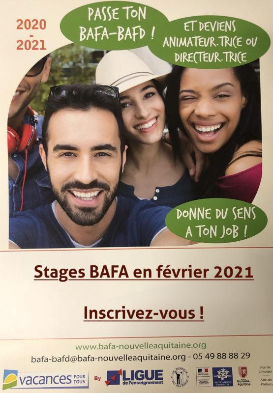 Formations BAFA en février 2021   Voilco Aster